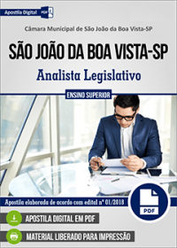 Analista Legislativo - Câmara de São João da Boa Vista - SP