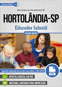 Educador Infantil - Prefeitura de Hortolândia - SP