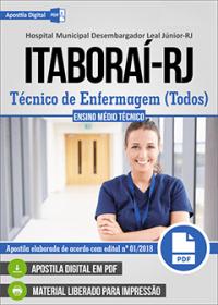Técnico de Enfermagem - Hospital Desembargador Leal Júnior - Itaboraí - RJ