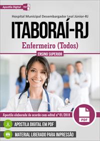 Enfermeiro - Hospital Desembargador Leal Júnior - Itaboraí - RJ