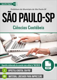 Analista Ciências Contábeis - Prefeitura de São Paulo - SP