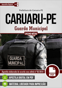 Guarda Municipal - Prefeitura de Caruaru - PE