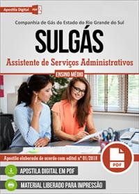 Assistente de Serviços Administrativos - SULGÁS