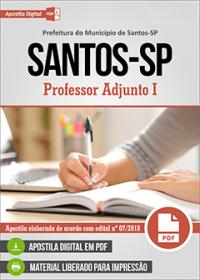 Professor Adjunto I - Prefeitura de Santos - SP