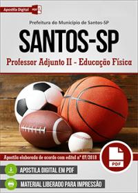 Professor Adjunto II - Educação Física - Prefeitura de Santos - SP