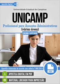 Profissional para Assuntos Administrativos - Superior - UNICAMP