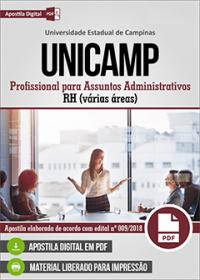 Profissional para Assuntos Administrativos - RH - Superior - UNICAMP