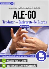 Tradutor - Intérprete de Libras - ALE-GO