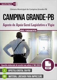 Agente de Apoio Geral Legislativo e Vigia - Câmara de Campina Grande - PB