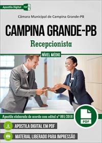 Recepcionista - Câmara de Campina Grande - PB
