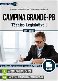 Técnico Legislativo I - Câmara de Campina Grande - PB
