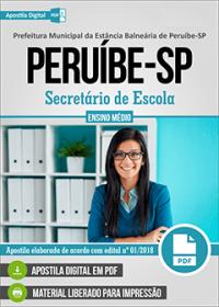 Secretário de Escola - Prefeitura de Peruíbe - SP