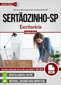 Escriturário - Câmara de Sertãozinho - SP
