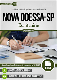 Escriturário - Prefeitura de Nova Odessa - SP