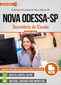 Secretário de Escola - Prefeitura de Nova Odessa - SP