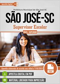 Supervisor Escolar - Prefeitura de São José - SC