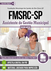 Assistente de Gestão Municipal - FMSRC-SP