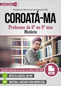 Professor de 6º ao 9º ano - História - Prefeitura de Coroatá - MA
