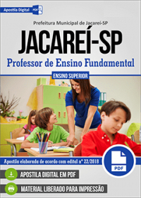 Professor de Ensino Fundamental - Prefeitura de Jacareí - SP