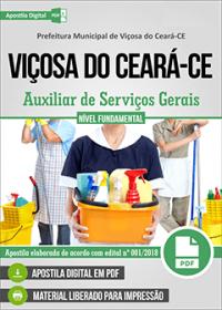 Auxiliar de Serviços Gerais - Prefeitura de Viçosa do Ceará - CE