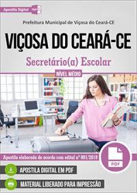 Secretário Escolar - Prefeitura de Viçosa do Ceará - CE