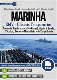 Serviço Militar Voluntário - Oficiais Temporários (exceto Medicina) - MARINHA