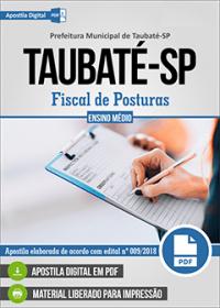 Fiscal de Posturas - Prefeitura de Taubaté - SP