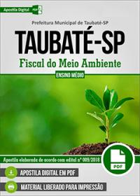 Fiscal do Meio Ambiente - Prefeitura de Taubaté - SP