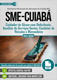 Cuidador de Aluno com Deficiência - SME-Cuiabá - MT