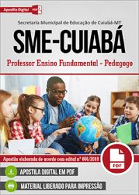 Professor Ensino Fundamental - Pedagogo - SME-Cuiabá - MT