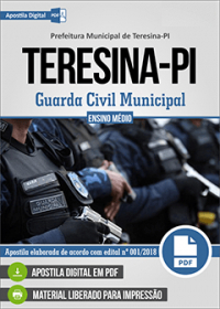 d246f7f785 Teresina - PI  Inscrições para o Concurso Público da Guarda-Civil ...