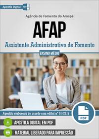 Assistente Administrativo de Fomento - AFAP