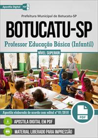 Professor Educação Básica - Infantil - Prefeitura de Botucatu - SP