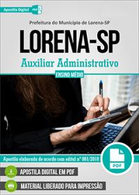 Auxiliar Administrativo - Prefeitura de Lorena- SP