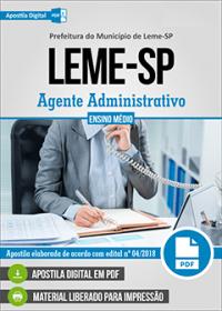 Agente Administrativo - Prefeitura de Leme - SP