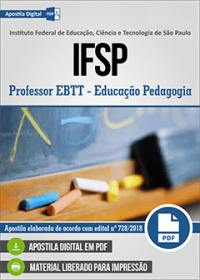 Professor EBTT - Educação Pedagogia - IFSP