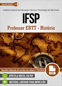 Professor EBTT - História - IFSP