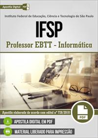 Professor EBTT - Informática - IFSP