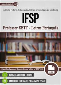 Professor EBTT - Letras Português - IFSP