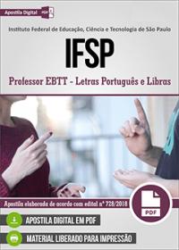 Professor EBTT - Letras Português e Libras - IFSP