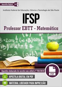 Professor EBTT - Matemática - IFSP