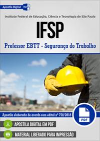 Professor EBTT - Segurança do Trabalho - IFSP