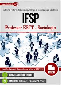 Professor EBTT - Sociologia - IFSP