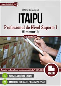 Profissional de Nível Suporte I - Almoxarife - ITAIPU Binacional