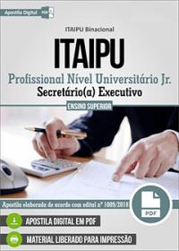 Profissional Nível Universitário Jr. - Secretário - ITAIPU Binacional