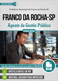 Agente de Gestão Pública - Prefeitura de Franco da Rocha-SP