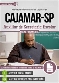 Auxiliar de Secretaria Escolar - Prefeitura de Cajamar - SP