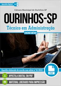 Técnico em Administração - Câmara de Ourinhos - SP