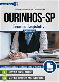 Técnico Legislativo - Câmara de Ourinhos - SP