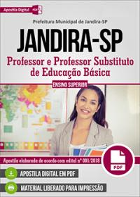 Professor e Professor Substituto de Educação Básica - Prefeitura de Jandira - SP